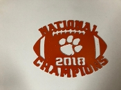 2018 Nat Champ Football 11 inches wide